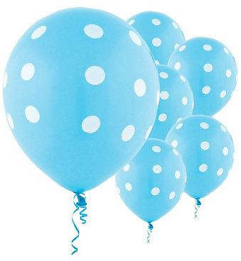 BL003: 1un Balões de Latex PINTAS - AZUL