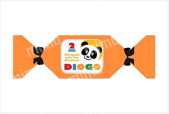 M010: 1un Caixa c/ gomas Panda Laranja