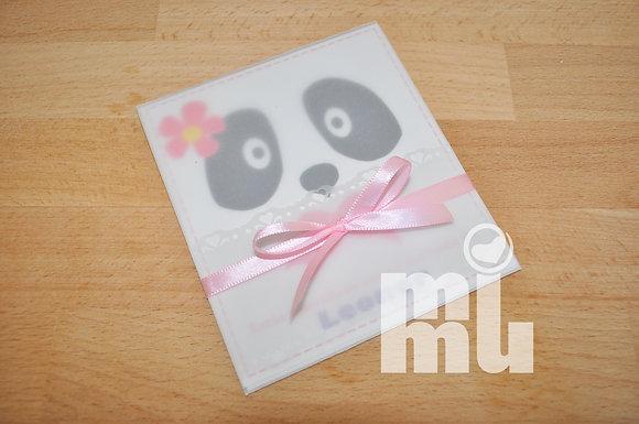 I046: 1un Convite Panda Rosa