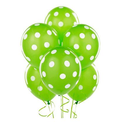 BL007: 1un Balões de Latex PINTAS - Verde