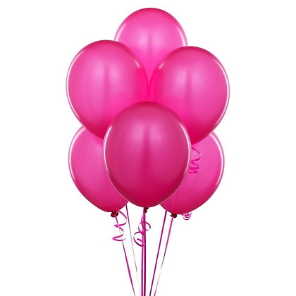 BS002: 1un Balões de Latex SIMPLES - Rosa forte