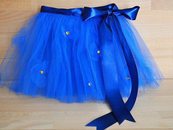 TT005 TUTU Azul c/ aplicação de flores