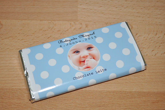 C041: 1 Chocolate de Leite azul c/ pintas