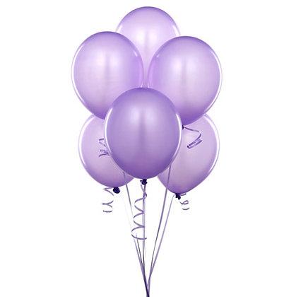 BS006: 1un Balões de Latex SIMPLES - Lilás