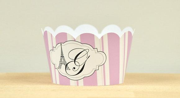 Q002P: 6 Cupcakes Wrap Paris