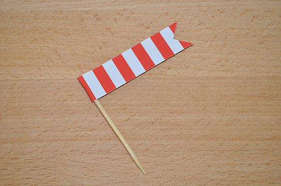 B032 - 6 Bandeirinha Primavera - Laranja