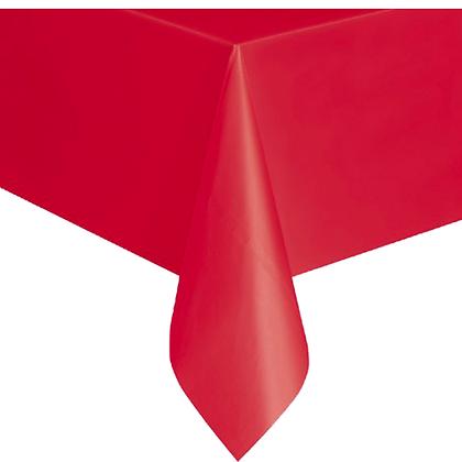 TO007: 1un toalha Mesa plástico Vermelha