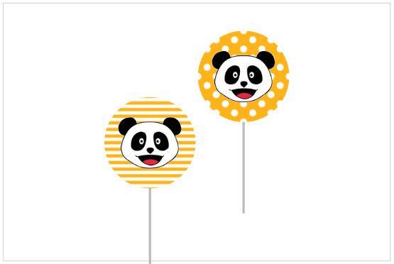 T077: 6un Topperes Panda Laranja