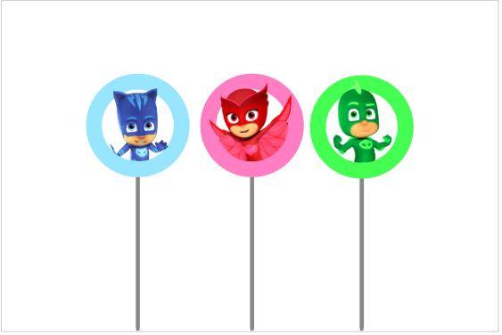T005: 6 Topper PJ Masks redondo
