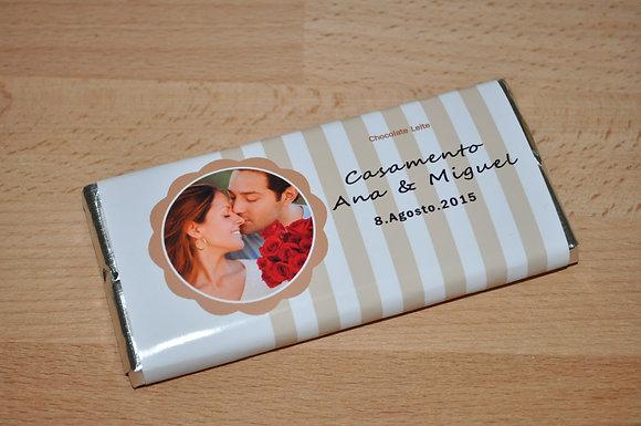 C043: 1 Chocolate de Leite casamento beje