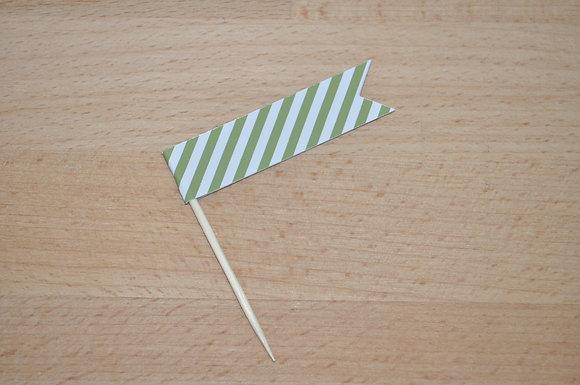 B043 - 6 Bandeirinhas Primavera - Risca Verde
