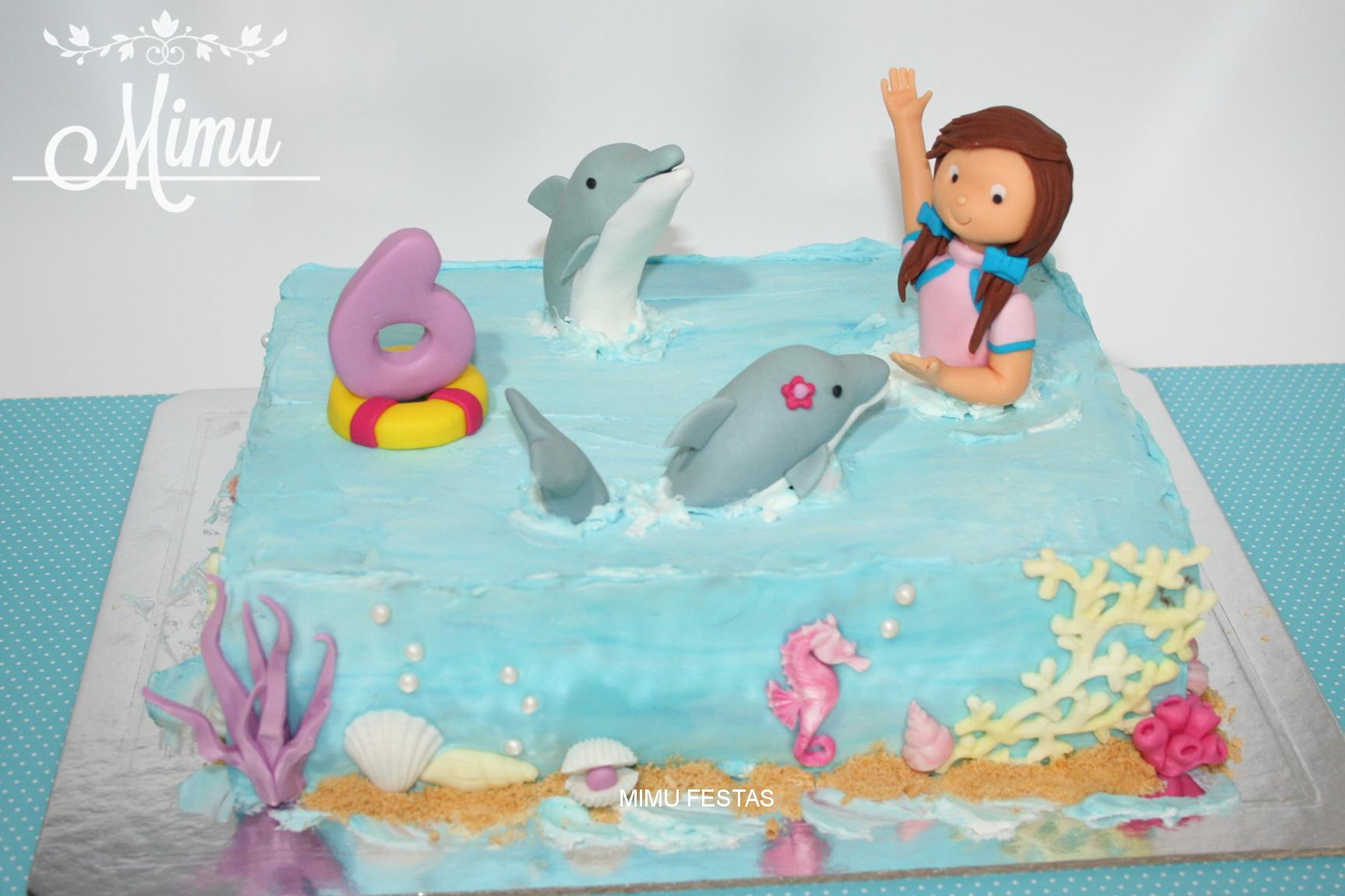 """Bolo """"Um dia com Golfinhos"""""""