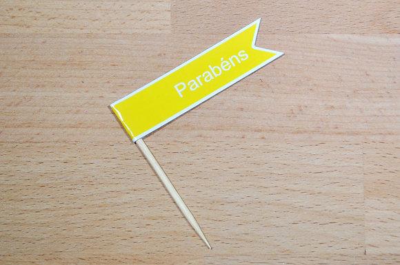 B017: 6 Bandeirinhas - Amarela