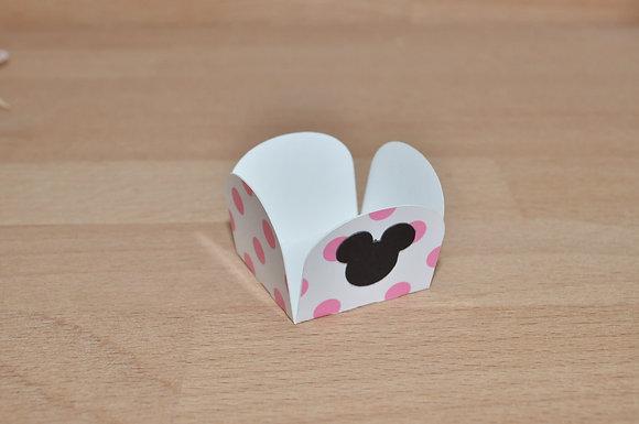 D029: Forminhas p/ doces Minnie pintas