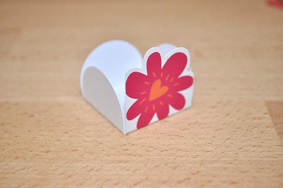 D014: Forminhas p/ doces flor rosa