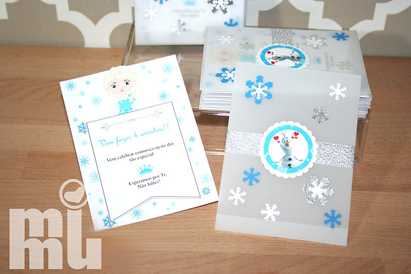 I066: 1 Convite Frozen