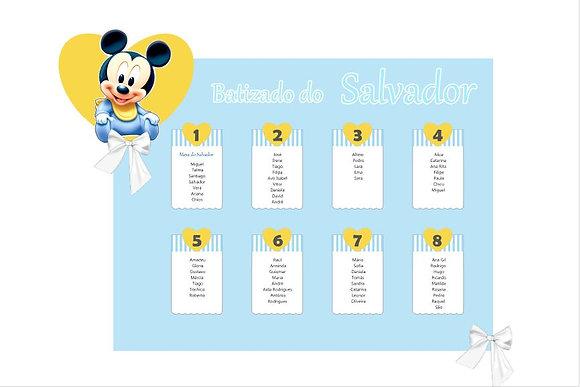 Z008: 1un Placard Mickey bebé