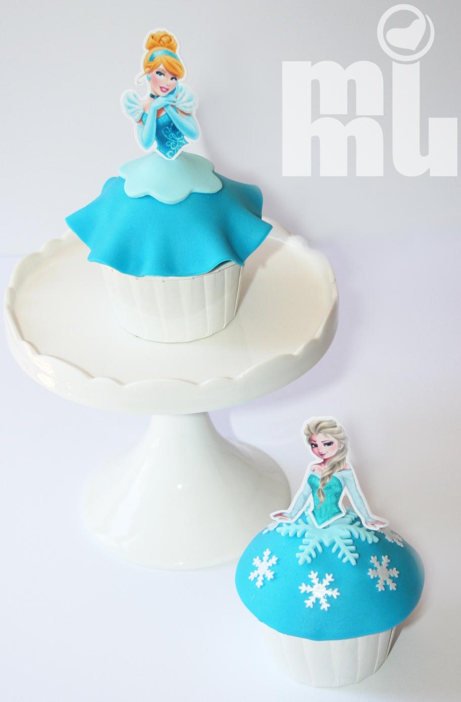 Cupcakes Princesas azul