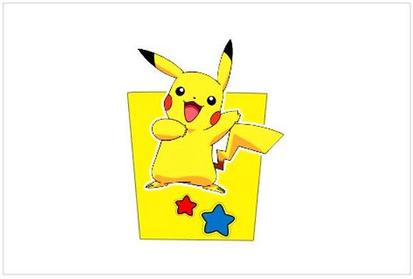 P048: 1un Pacote Pipocas 3D Pokemon amarelo