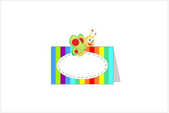 MA057: 6 Marcador Mesa Baby TV arco Iris