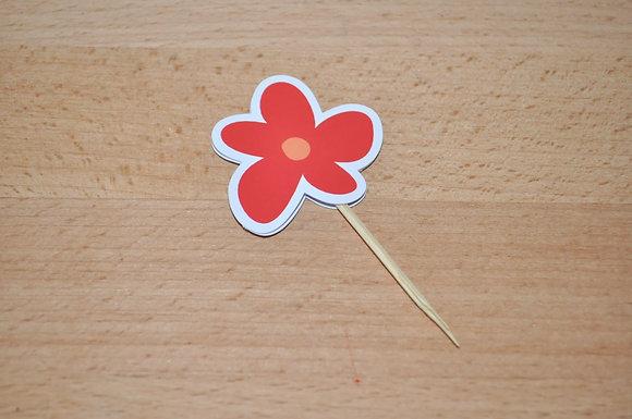 T038 - 6 Topper Flor Simples