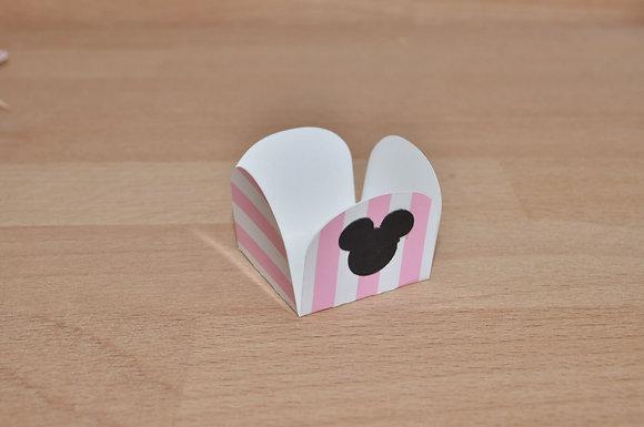 D030: Forminhas p/ doces Minnie riscas