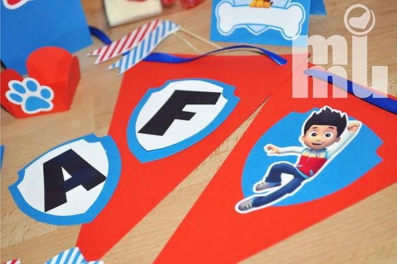 BP038: Bandeirola 3D PAW - Vermelha