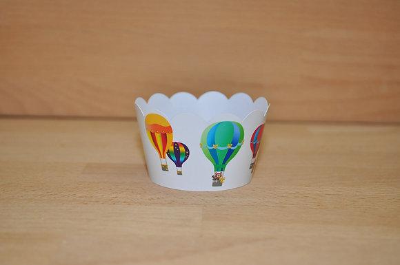 Q010: 6 Cupcakes Balões
