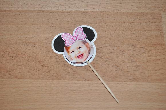 T050: 6 Topper Minnie com Foto