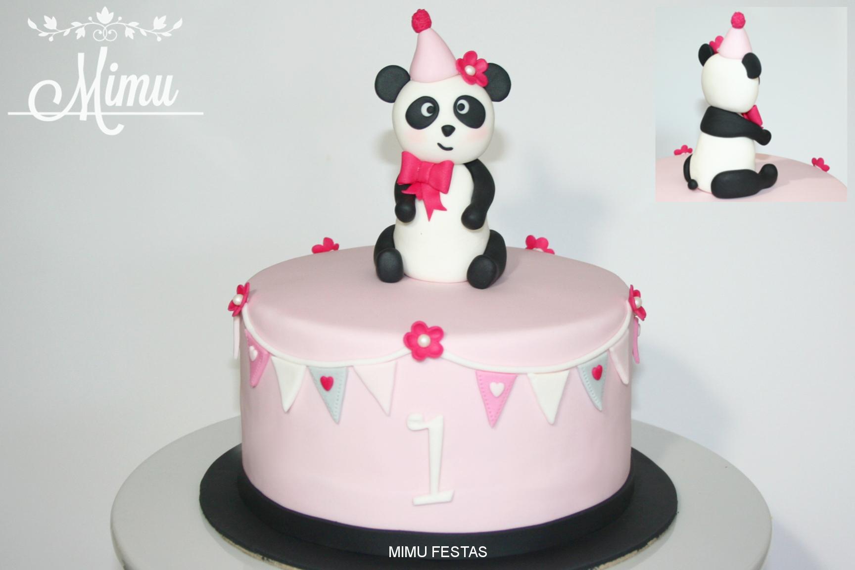 Bolo Panda Menina