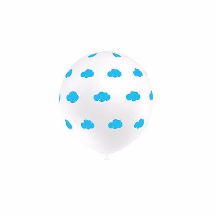 BN001: 1un Balões de Latex Brancos c/ nuvens