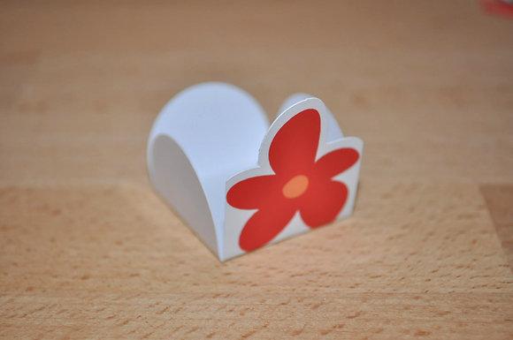 D015: Forminhas p/ doces flor laranja