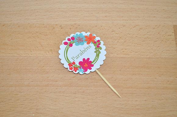 T039 - 6 Topper Flor Simples