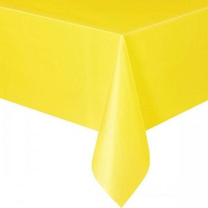 TO004: 1un toalha Mesa plástico Amarela
