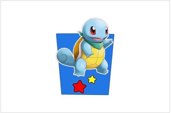 P049: 1un Pacote Pipocas 3D Pokemon azul