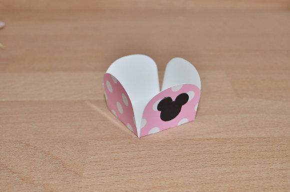 D028: Forminhas p/ doces Minnie rosa