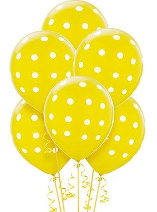 BL004: 1un Balões de Latex PINTAS - AMARELO