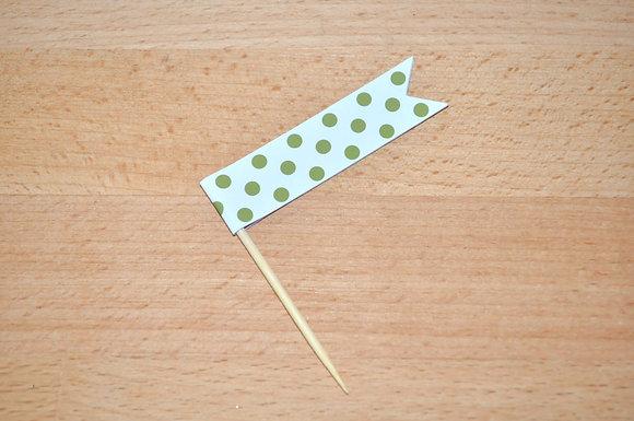 B040 - 6 Bandeirinha Primavera - Pintas verdes
