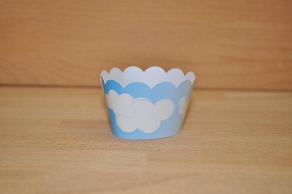 Q009: 6 Cupcakes Nuvens
