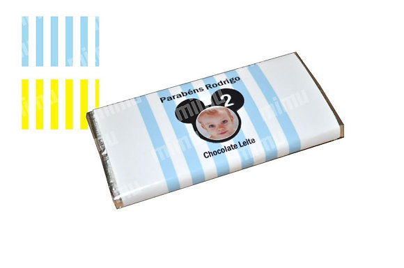 C023: 1 Chocolate PERSONALIZADO Riscas