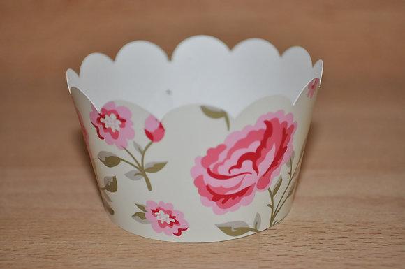 Q025: 6 Cupcakes Wrap Roses