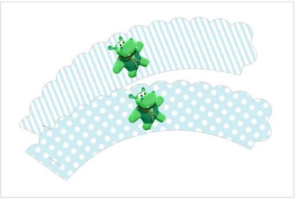 Q036: 6 Cupcakes wrap baby tv azul