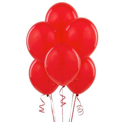 BS003: 1un Balões de Latex SIMPLES - Vermelho