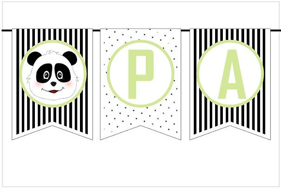 BP044: Bandeirola Panda B&W