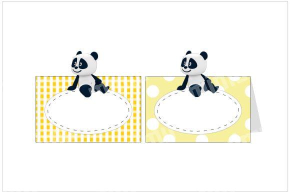MA051: 6un Marcador Panda Amarelo