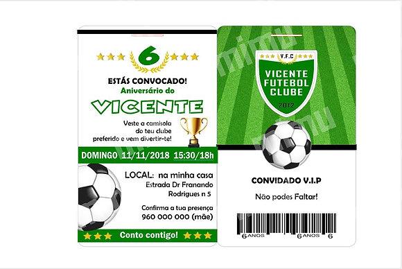 I001: 1 Convite VIP Ingresso de Futebol