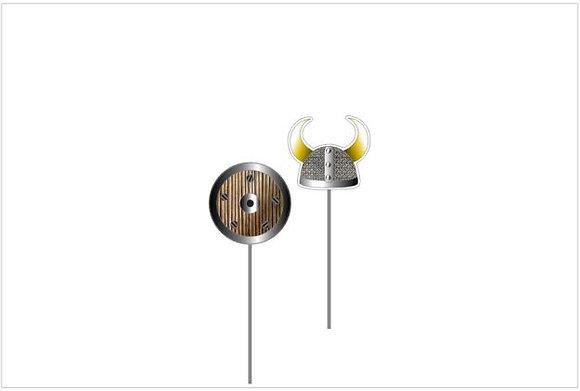 T013: 6un Topper viking capacete
