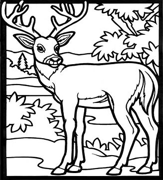 Reindeer Colourig Page
