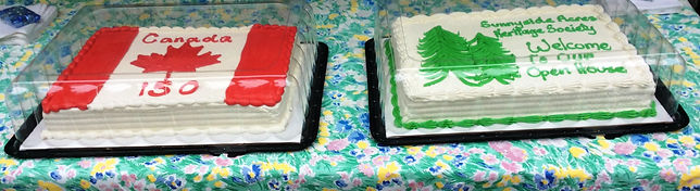 Sunnyside Acres Heritage Society birthday cakes (150 years)
