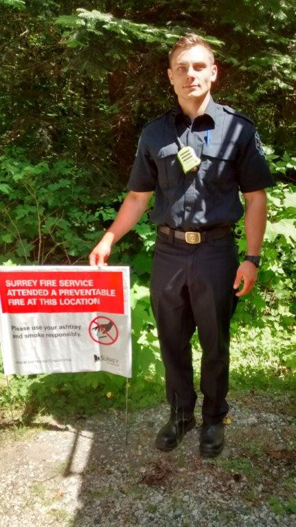 Open House 2019 Surrey Fire Service Sign